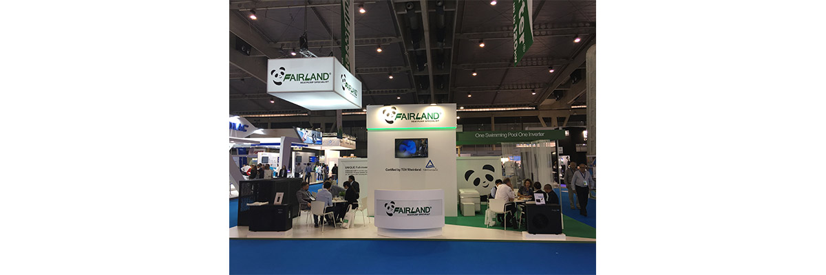 Fairland unique Full-inverter pool heat pump rocked at Piscina & Wellness Barcelona 01 - fairland