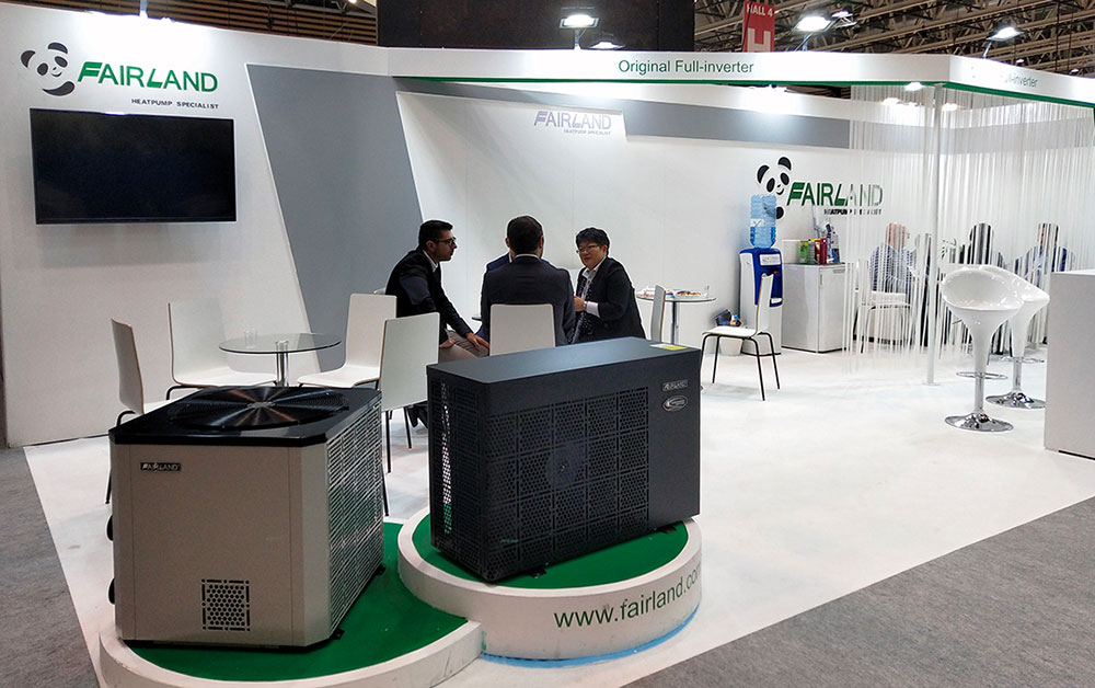 Fairland Inverter-plus Vertical and Inverter-plus Dehumidifier made world launch at Piscine Global Europe 2018.