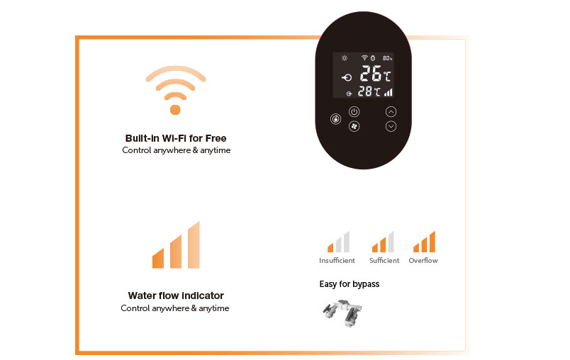 INVER-X HORIZONTAL intelligent touch controller - fairland pool heating solution